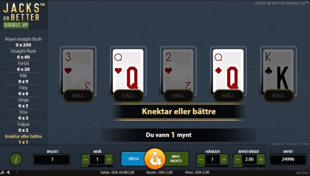 Video poker - Spelautomater och Poker kombinerat